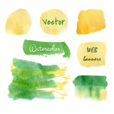 Summer colors watercolor set Royalty Free Stock Photography