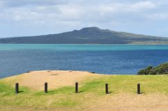 Rangitoto volcano island view from Devonport Stock Images