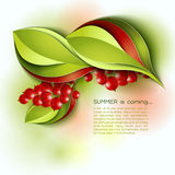 Summer is coming abstract vector background Stock Photos