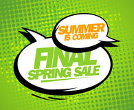 Summer is coming, final spring sale design. Royalty Free Stock Photos