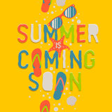 Summer coming soon, creative graphic background Royalty Free Stock Photo
