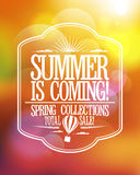 Summer is coming, spring collections total sale design. Stock Photography