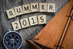 Summer 2015 with compas Stock Image