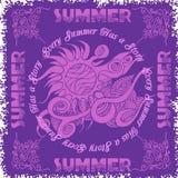 Summer composition and sun Stock Photos