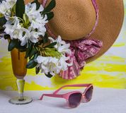 Summer still life for womens royalty free stock images