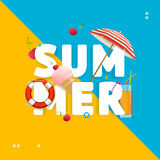 Summer Concept Card Travel Holiday. Vector Stock Photos