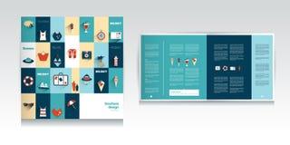 Summer concept catalog design. Vector stock illustration