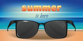 Free Summer Concept Design With Sunglasses Stock Photos - 123736633