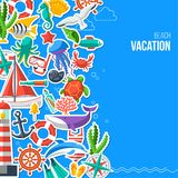 Summer Concept with Flat Icons Royalty Free Stock Image