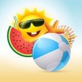 Summer Concept Illustration stock illustration