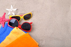 Summer concept of sandy beach, vacation. Background royalty free stock photos