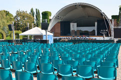 Summer concert hall outdoors in the park Stock Photos