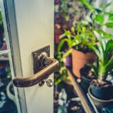 Summer Conservatory Door Stock Photography
