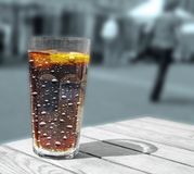Summer cool refreshing soft drink with bubbles stock images