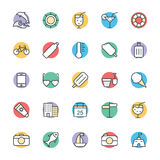 Summer Cool Vector Icons 3. Get down to the beach and seaside this summer and hop on a boat with this Summer Vector Icons Pack! Included in this pack is Royalty Free Stock Image