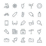 Summer Cool Vector Icons 3 Royalty Free Stock Images