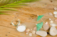 Summer cosmetics background royalty free stock photos
