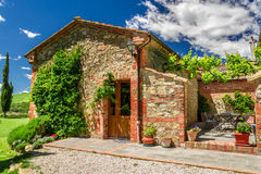 Summer cottage agriturismo in Tuscany Royalty Free Stock Images