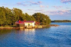Summer cottage in Finland Stock Photos