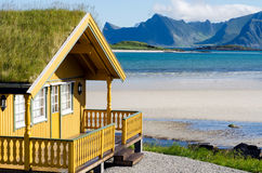 Summer cottage on the Lofoten Stock Images