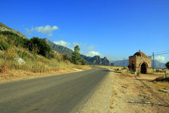 Summer country road landscape. Italy Royalty Free Stock Images