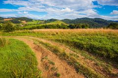 Summer Countryside Road Royalty Free Stock Photography
