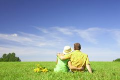 Summer couple Stock Image