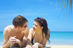 Summer couple Royalty Free Stock Images