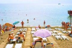 Summer Crimea beach Stock Photo