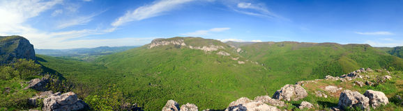 Summer Crimea Mountain panorama (Ukraine). Stock Images