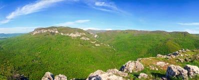 Summer Crimea Mountain panorama Stock Images