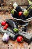 Summer crop of aubergine Stock Photos