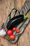 Summer crop of aubergine Royalty Free Stock Image