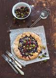 Summer crostata or galette pie with fresh garden Royalty Free Stock Photography