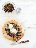 Summer crostata or galette pie with fresh garden Stock Photography