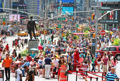 Summer Crowd At Times Square Royalty Free Stock Photography