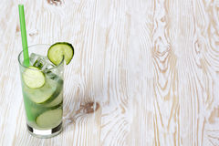 Summer cucumber cocktail. Stock Photo