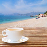 Summer cup of coffee Royalty Free Stock Images