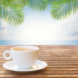 Summer cup of coffee Stock Photography