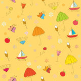 Summer cute seamless pattern Stock Photos