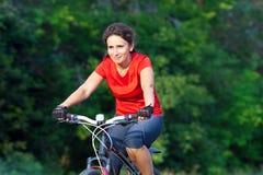 Summer Cycling woman Royalty Free Stock Photos