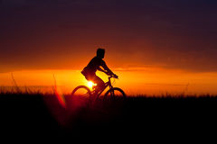 Summer cyclist Royalty Free Stock Photography