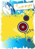 Summer dance party. Vector illustration Royalty Free Stock Images
