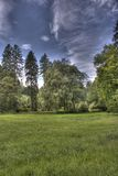 Summer dark day in the park by hdr Stock Images