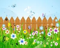 Summer day. Beautiful, vector illustration Stock Photos