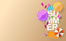 Summer Day Background with creative design stock illustration