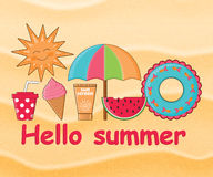 Summer day background  Stock Image