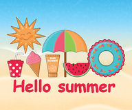 Summer day background  Royalty Free Stock Photography
