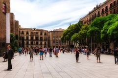 Summer day in Barcelona Stock Photos