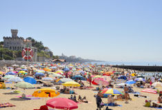 Summer day in the beach of Estoril Stock Photo